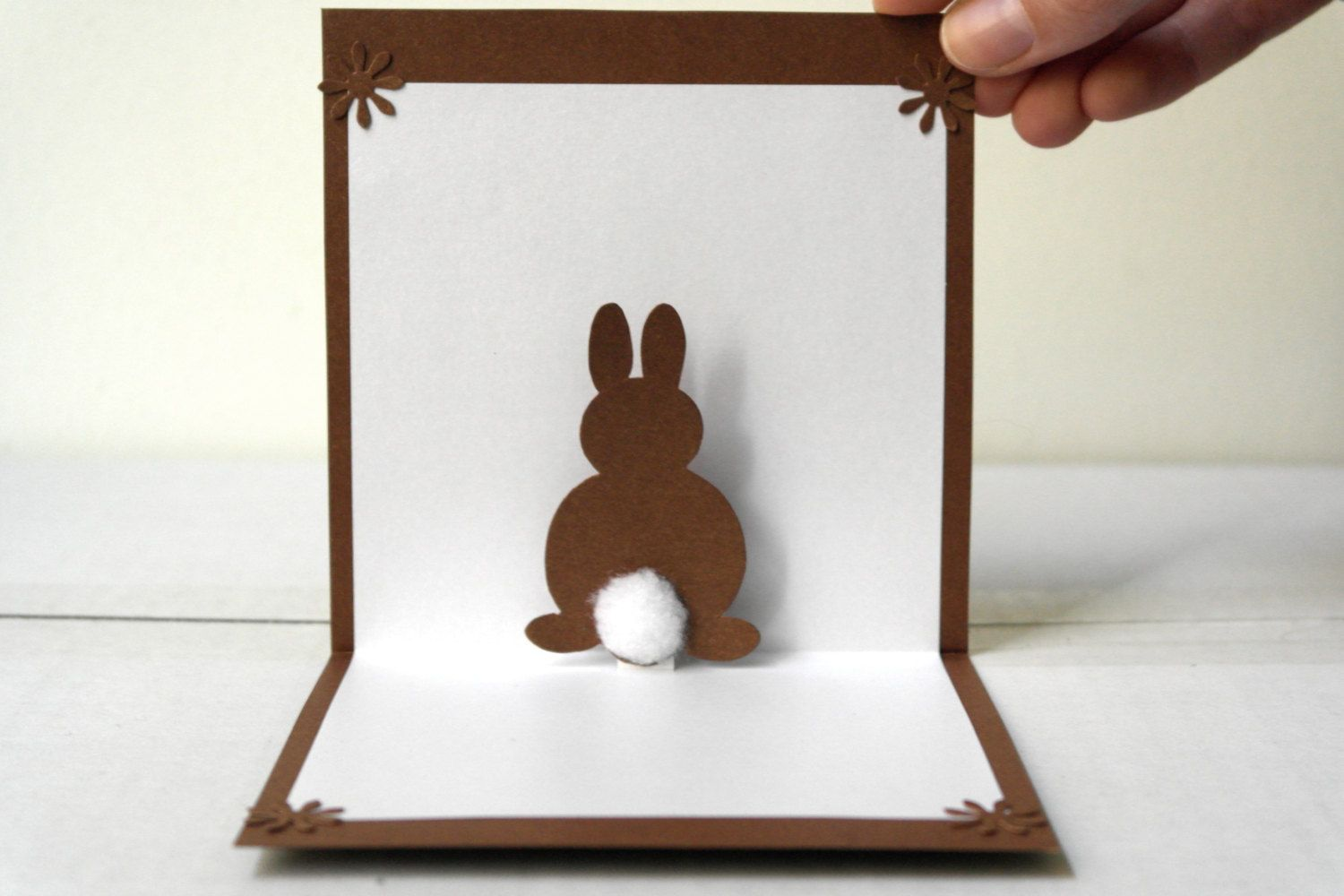 Pop Up 3d Bunny Card Original Handmade Unique Special Cute Sweet Greeting Card Diy Easter Cards Love Pop Up Cards Spring Cards