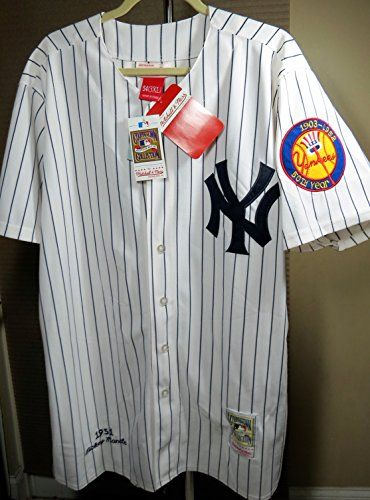 50th Year New York Yankees Authentic 1951 Mickey Mantle Home Jersey  Cooperstown by Mitchell Ness 3XL54 -- Click image to review more details. 9dd28b2c973