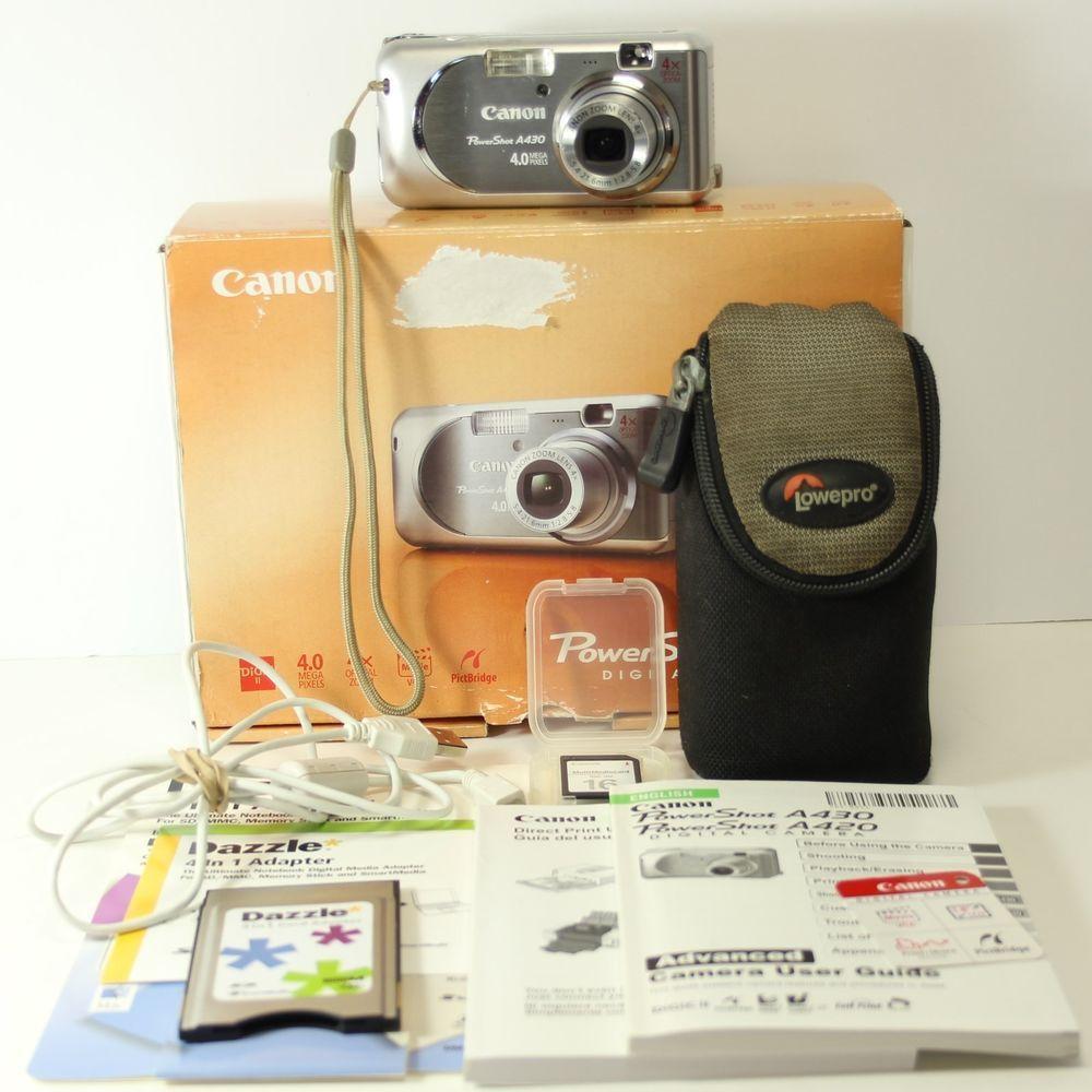 canon powershot a430 4 0 mp digital camera usb case box manuals plus rh pinterest co uk Canon PowerShot A510 Manual Canon PowerShot Manual PDF