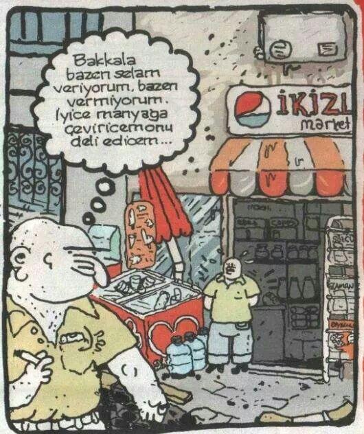 Bakkal Karikatür Caricature Comics Cartoon