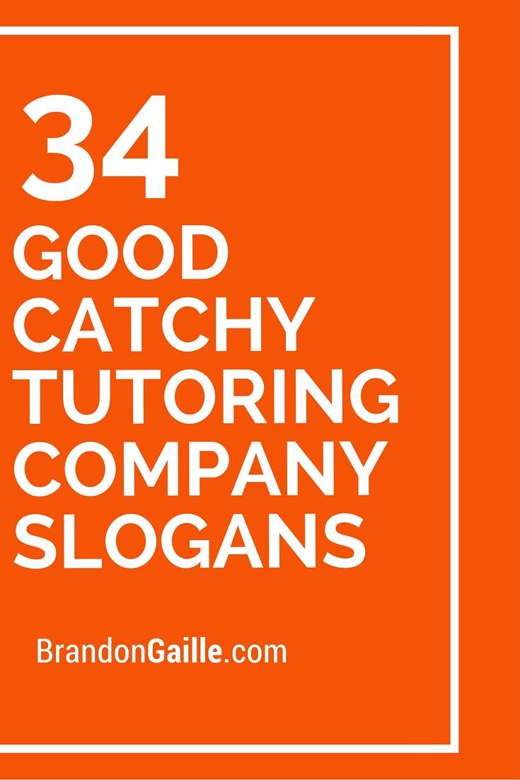125 Good Catchy Tutoring Company Slogans Catchy Slogans