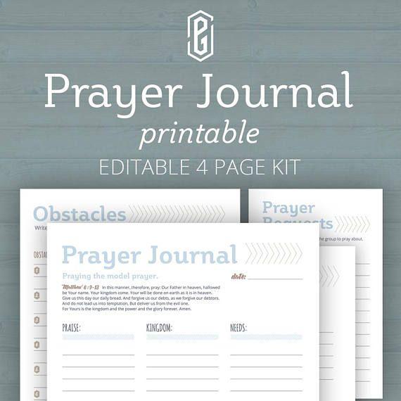 Prayer Journal, Bible Journal Kit, Prayer Journaling, Prayer