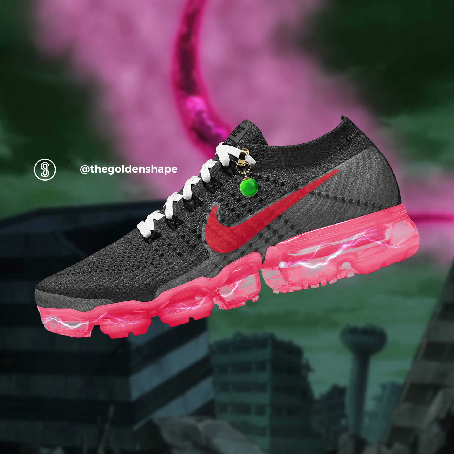 finest selection 791a7 be53b Nike x Dragon Ball Super VaporMax Goku Black