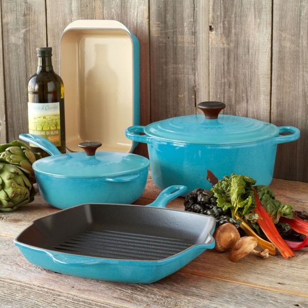 Le Creuset Caribbean 6-Piece Classic Cookware Set at Sur La Table ...