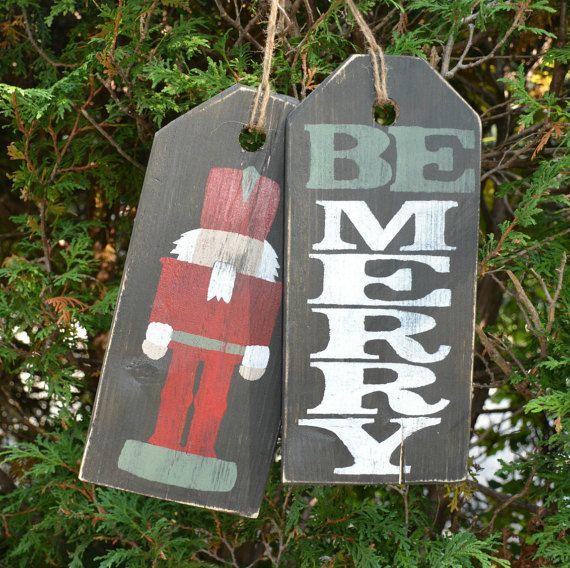 Holiday Front Door Sign Christmas Front Door Decor Rustic
