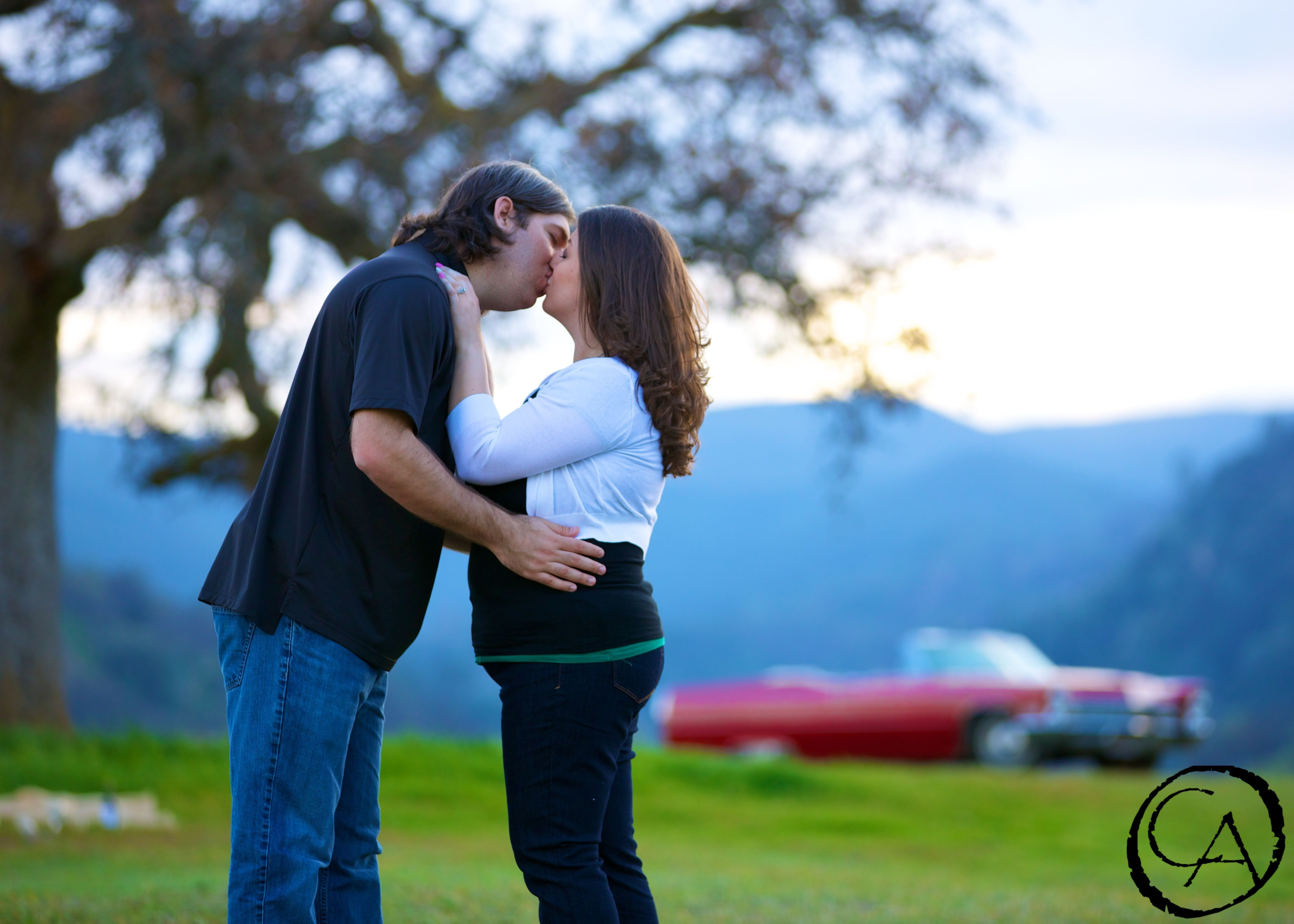 Engagement Shoot by one of the majestic oaks at Taber Ranch | By Christopher Armstrong Photography