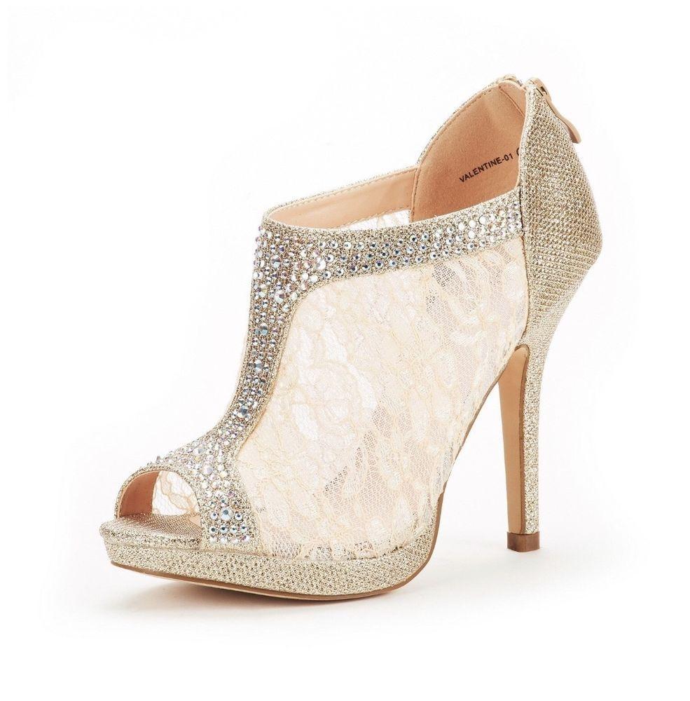 faf501dc365a US Shoe Size Women Fashion Dress High Heel Peep Toe Wedding Pumps Comfort  Party