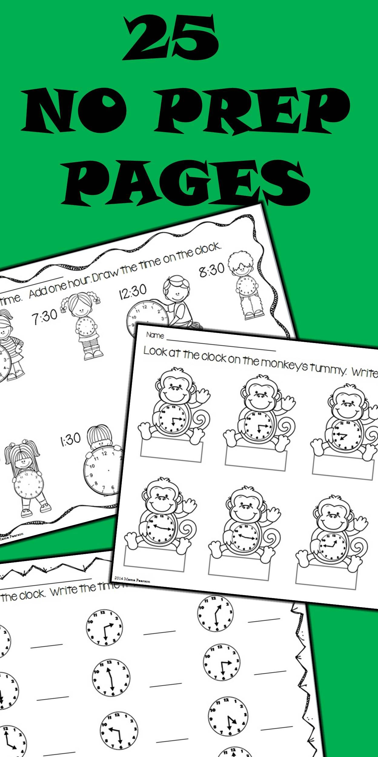 No Prep Time Printables