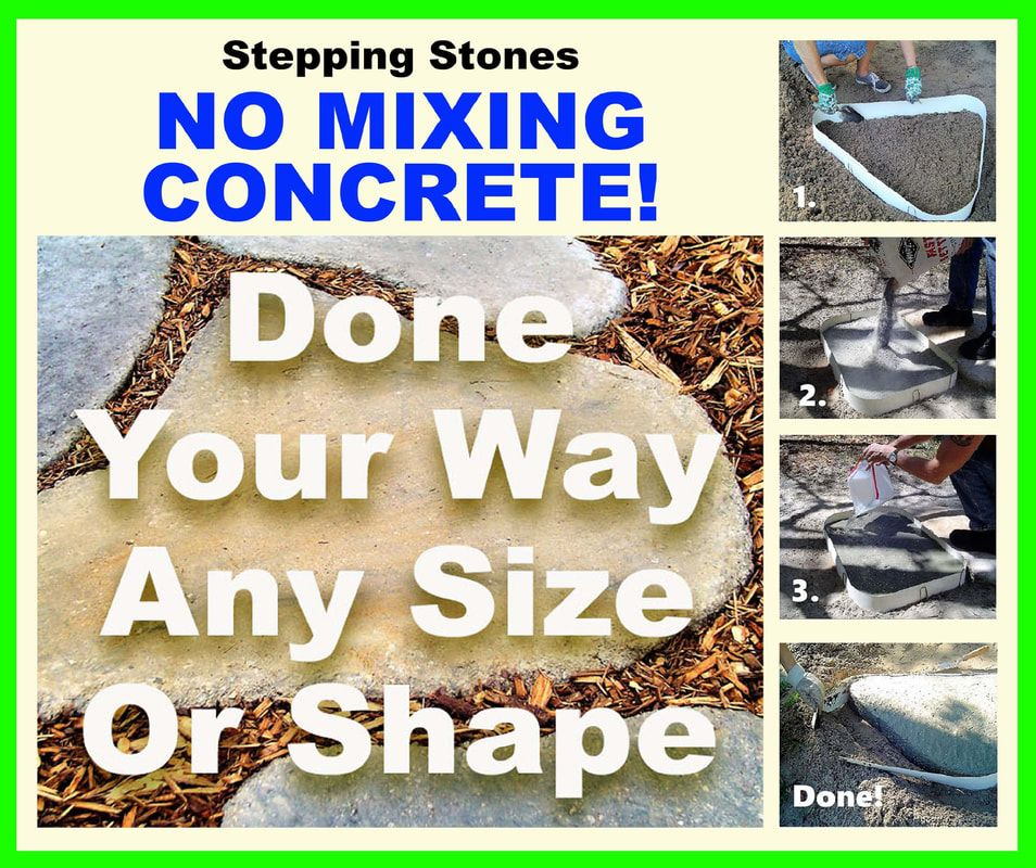 Making A Wonderful Garden Path Ideas Using Stones: Stepping Stone Molds, Flagstone