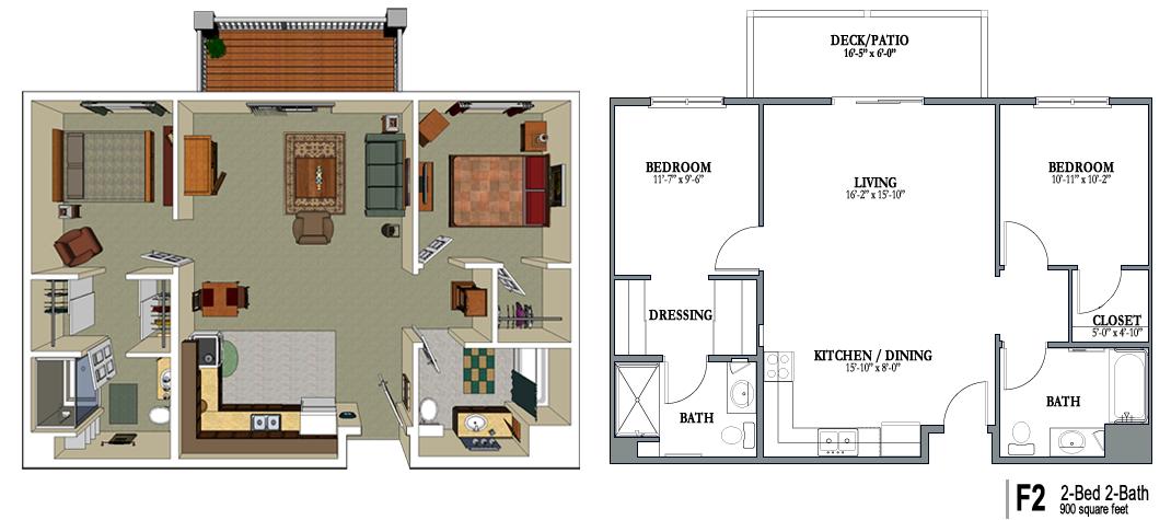 900 Square Foot House Plans Crestwood Senior Apartment House Plan With Loft 900 Sq Ft House House Plans