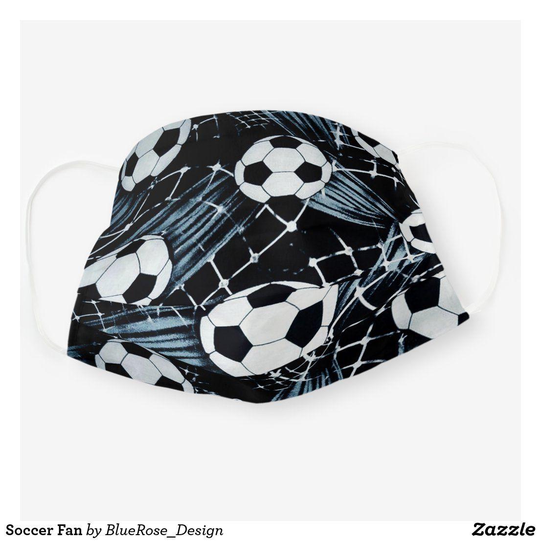 Soccer Fan Cloth Face Mask Zazzle Com In 2020 Face Mask Soccer Fans Mask For Kids