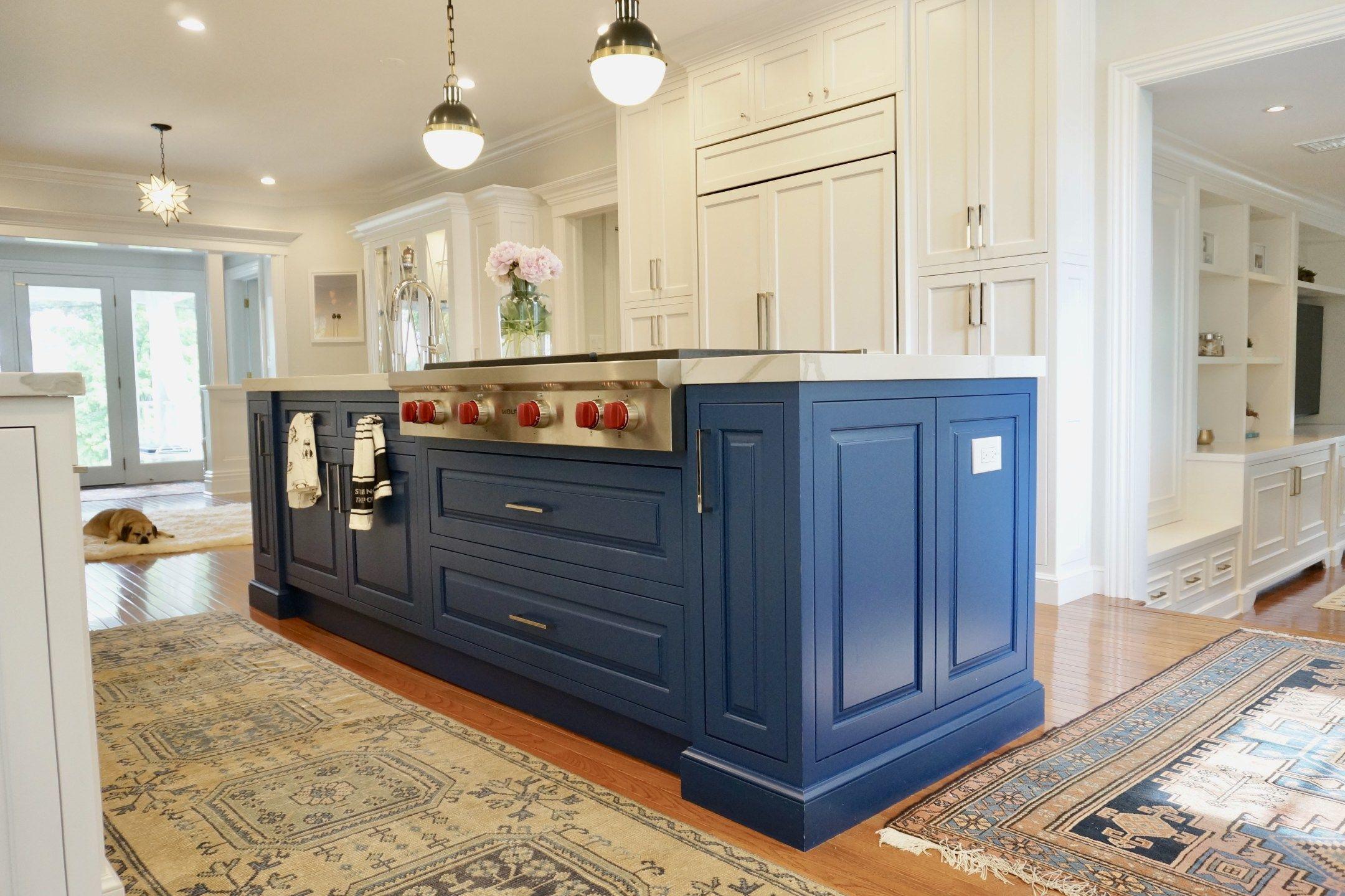 Kitchen Renovation Reveal | Blue kitchen cabinets, Painted kitchen cabinets colors, Blue kitchens