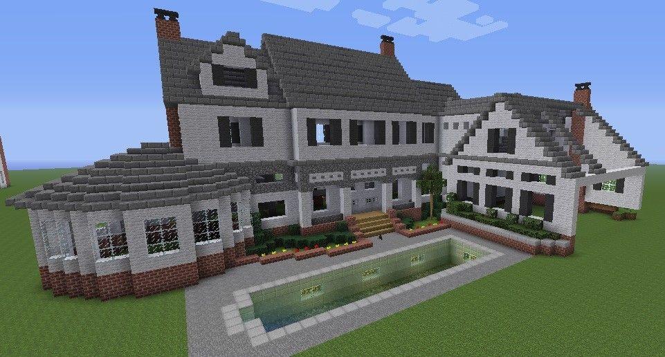 Rich Neighborhood House Minecraft Suburban House Minecraft Houses Easy Minecraft Houses