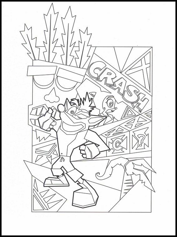 Crash Bandicoot 9 Printable Coloring Pages For Kids Coloring Books Coloring Pages For Kids Free Printable Coloring Pages