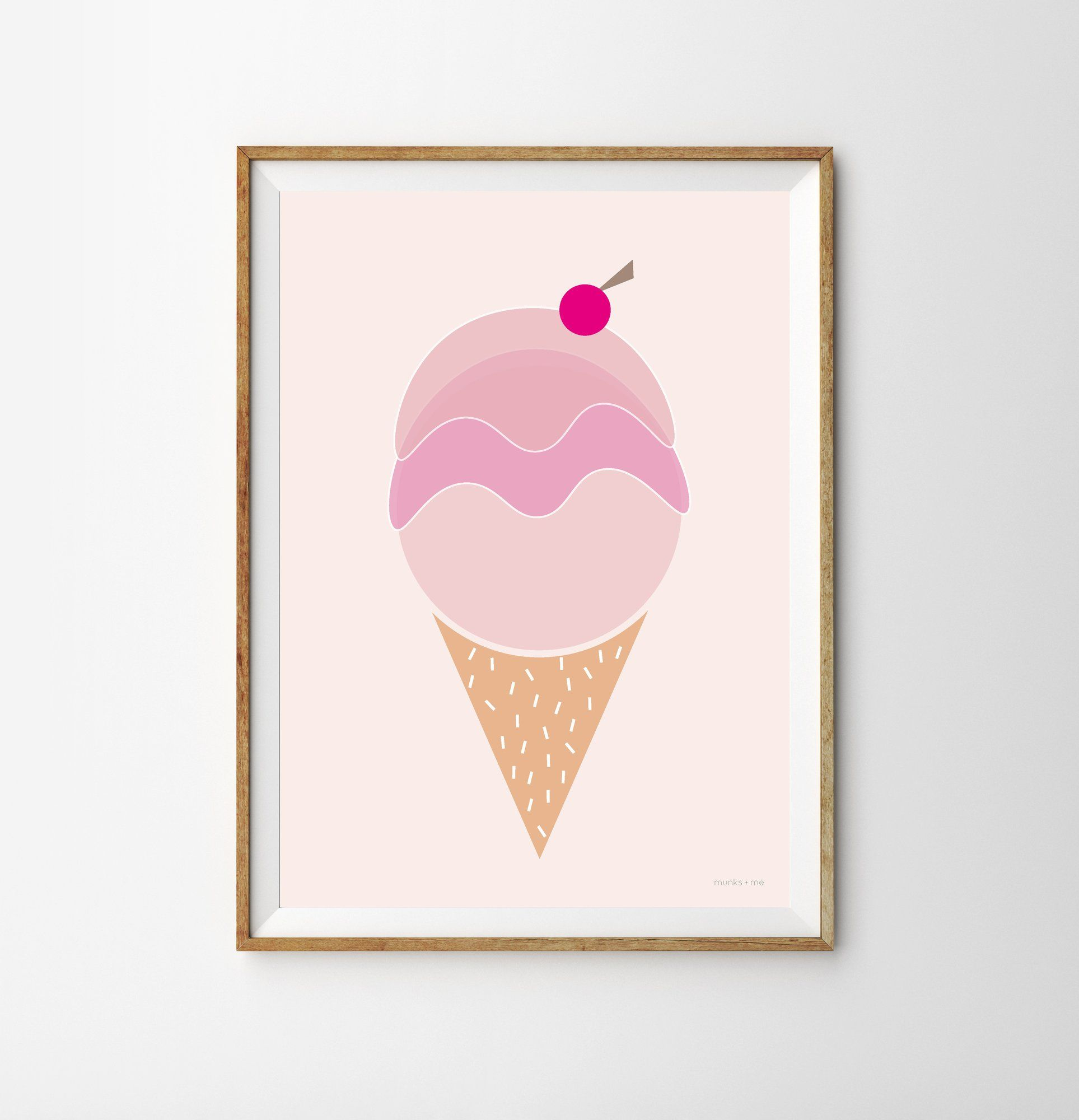 Triple Scoop Ice Cream Ren Print