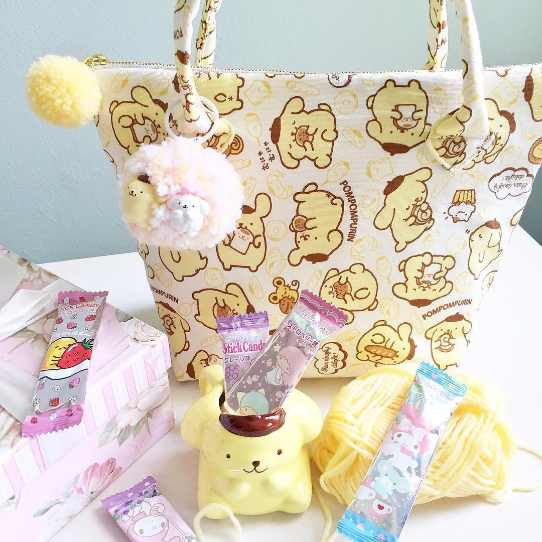 Lucy bag Pompompurin to brighten our day