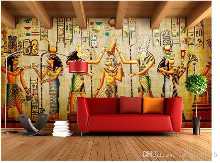 Wholesale Murals 3d Wallpapers Home Decor Photo Background Wallpaper Ancient Egyptian Civilization Mayan Elders Ho Mural Wall Art Wall Murals 3d Wallpaper Home