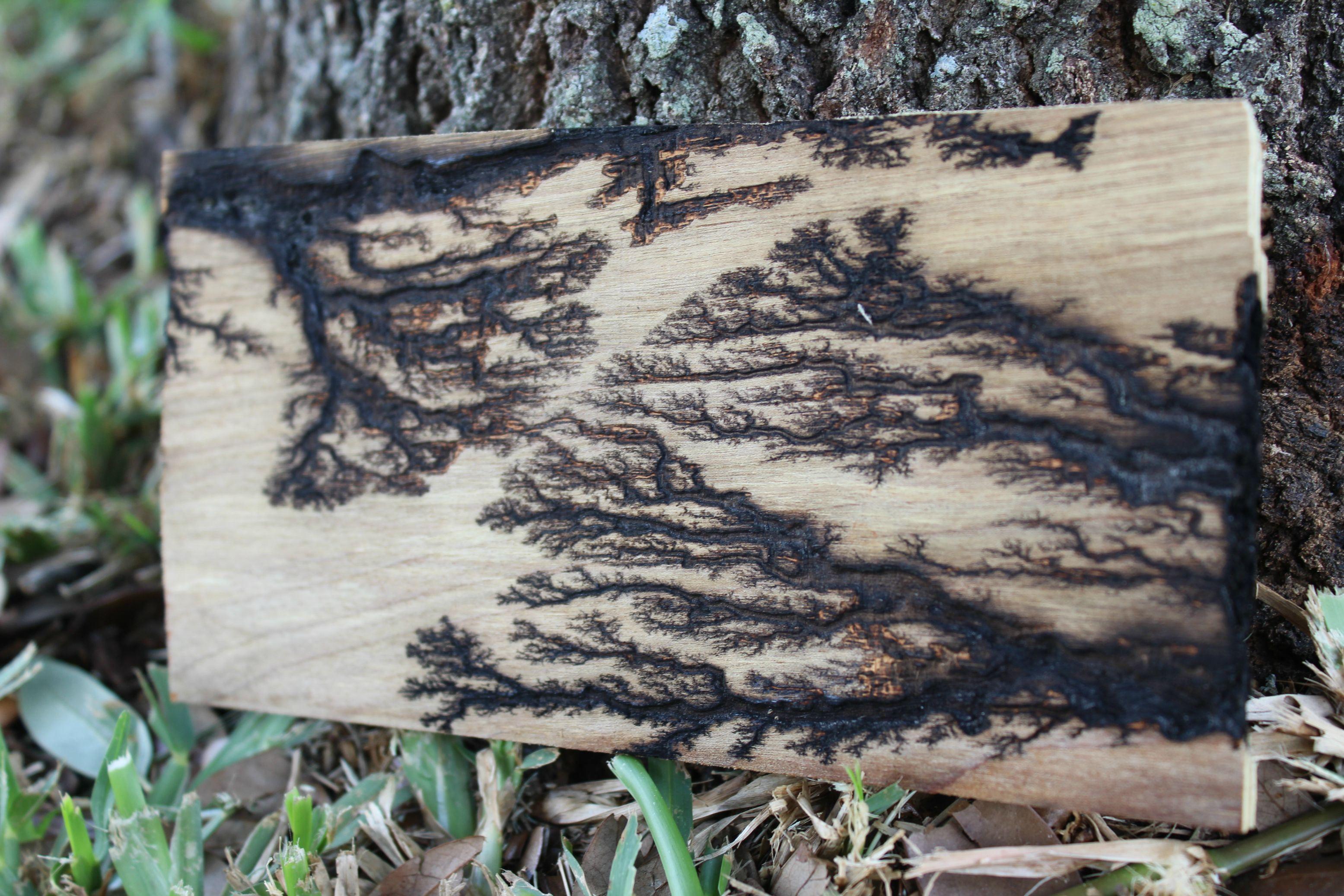 Burn Fractal Patterns Into Plywood Diy Art Geeky
