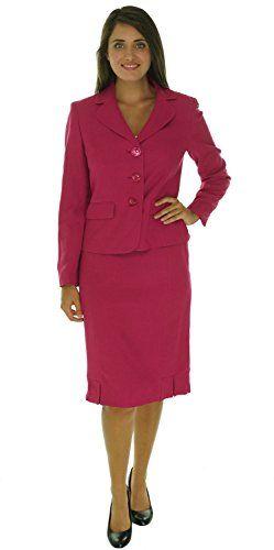 Evan Picone Womens St Morritz Pleated Skirt Suit 10 Fuschia Want