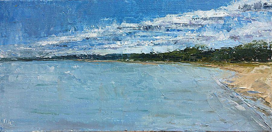 "Third Coast by maggie capettini Oil ~ 4"" x 8"""