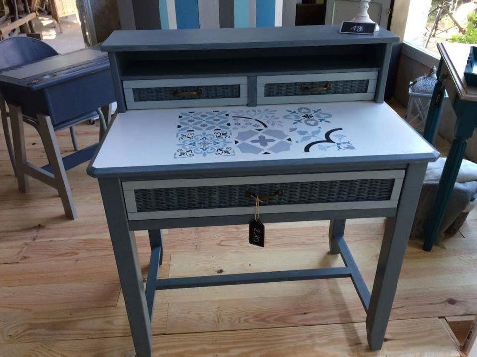 pochoir carreaux de ciment design exclusif eleonore d co. Black Bedroom Furniture Sets. Home Design Ideas
