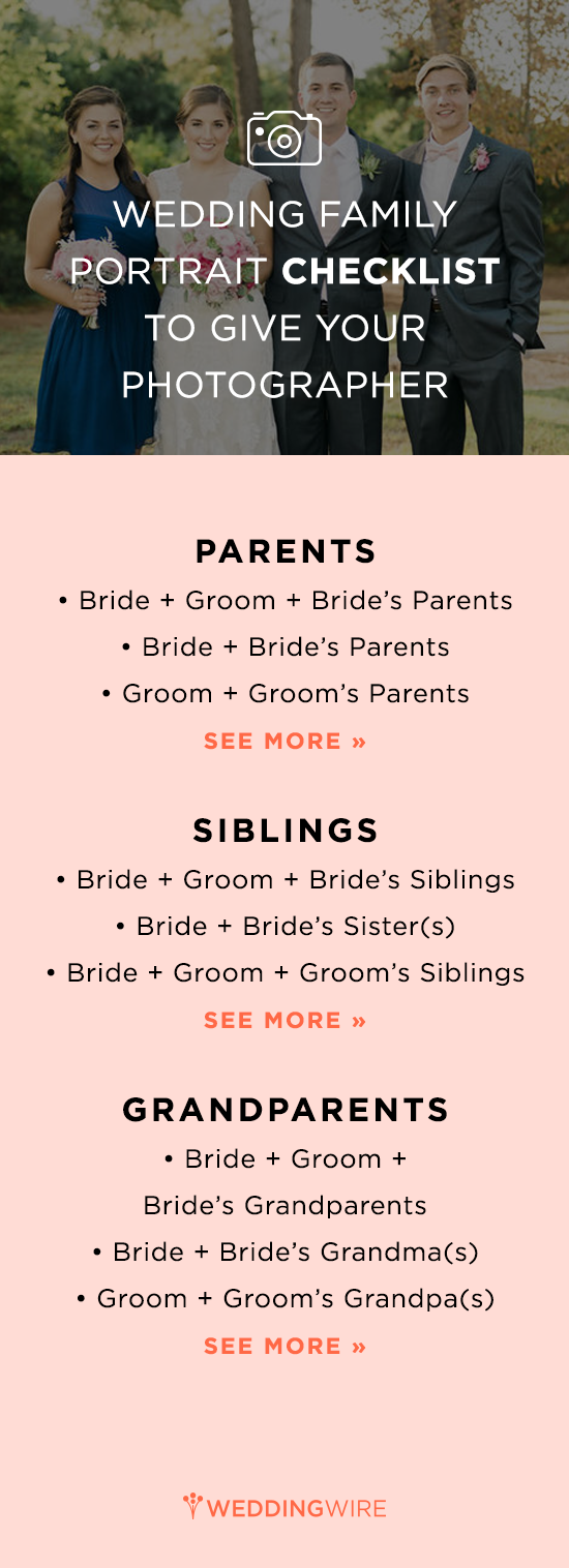 A Wedding Family Portrait Checklist For Your Photographer | Wedding ...
