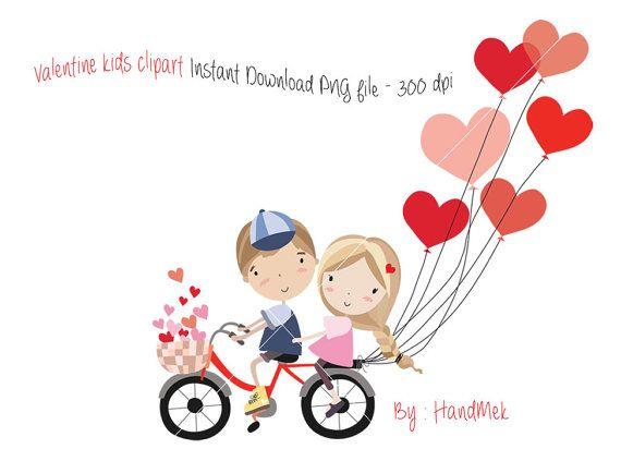 Valentine Kids Clipart Valentine S Clipart Valentine Day Etsy Valentine Clipart Valentines For Kids Valentines Day Clipart