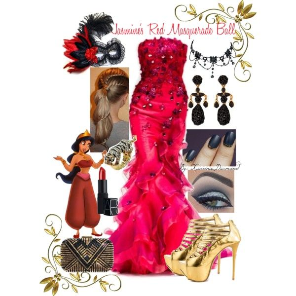 Jasmine's Red Masquerade Ball