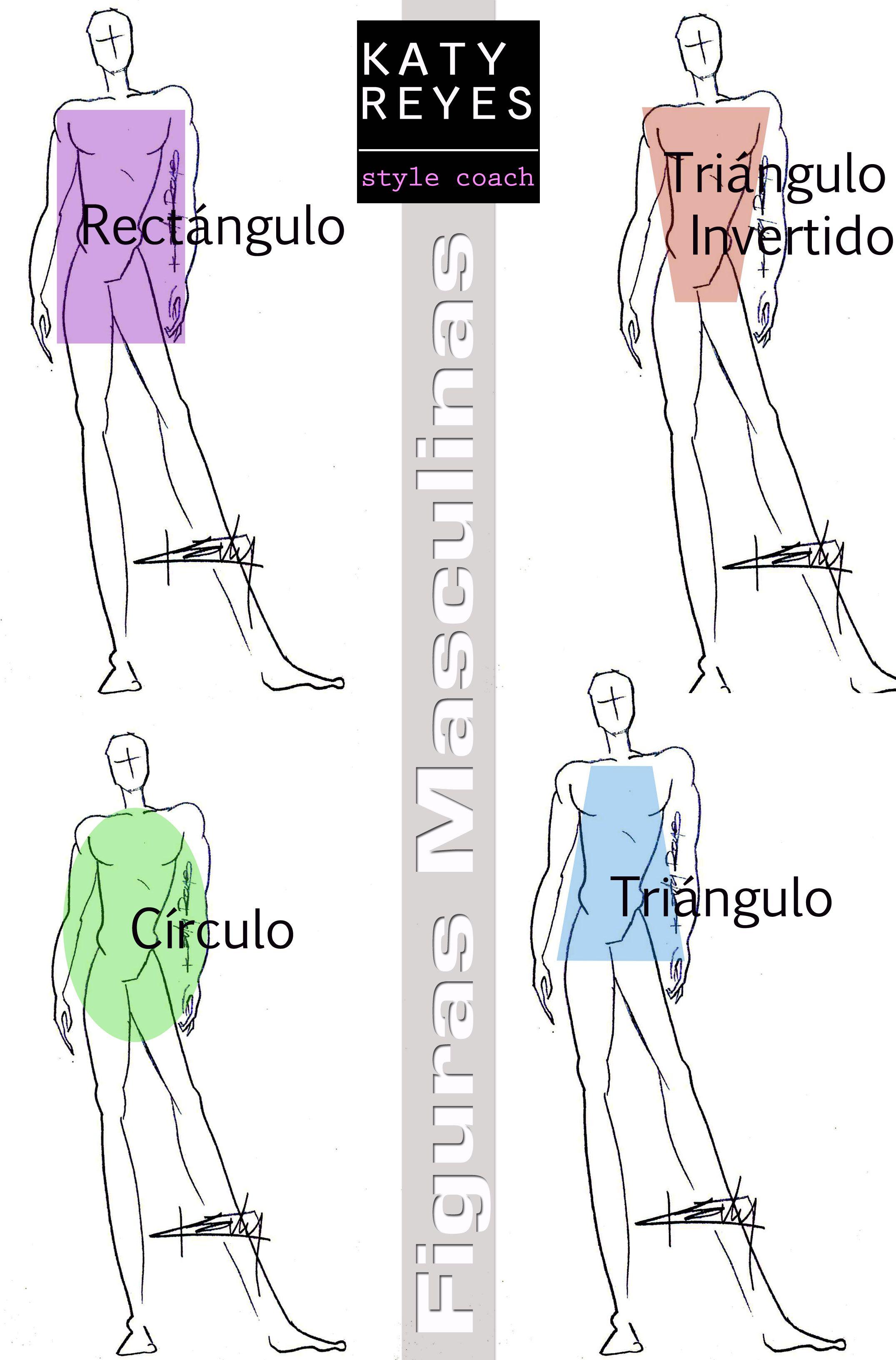 Figuras masculinas, tipos de cuerpos de hombres, bodyshapes, men