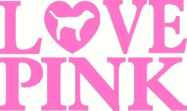 923d4fa0720 Love Pink Victoria Secret vinyl decal sticker laptop auto window wall.   5.00