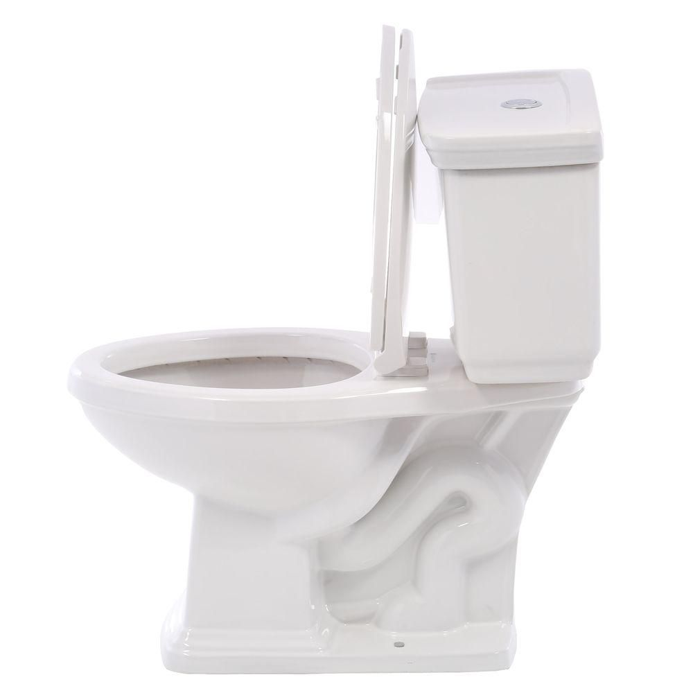 Glacier Bay 2 Piece 1 0 Gpf 1 28 Gpf High Efficiency Dual Flush Elongated Toilet In White N2430e The Home Depot Glacier Bay Home Depot Efficiency