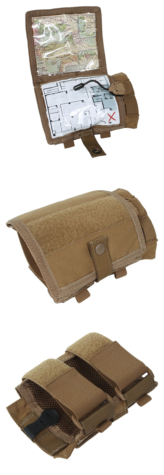 Tactical wrist case. Use it with your map or instructions