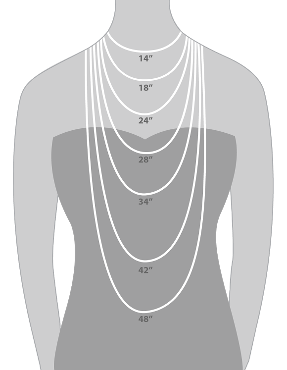 Printable necklace length chart from hauteheadquarters designer jewelry and accessories also rh pinterest