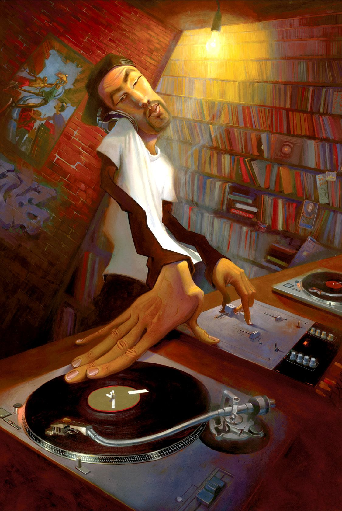 THE DJ Hip hop art, Street art, Art