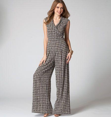 M7133, Misses\'/Miss Petite Top, Pants and Jumpsuit | Sewing Patterns ...