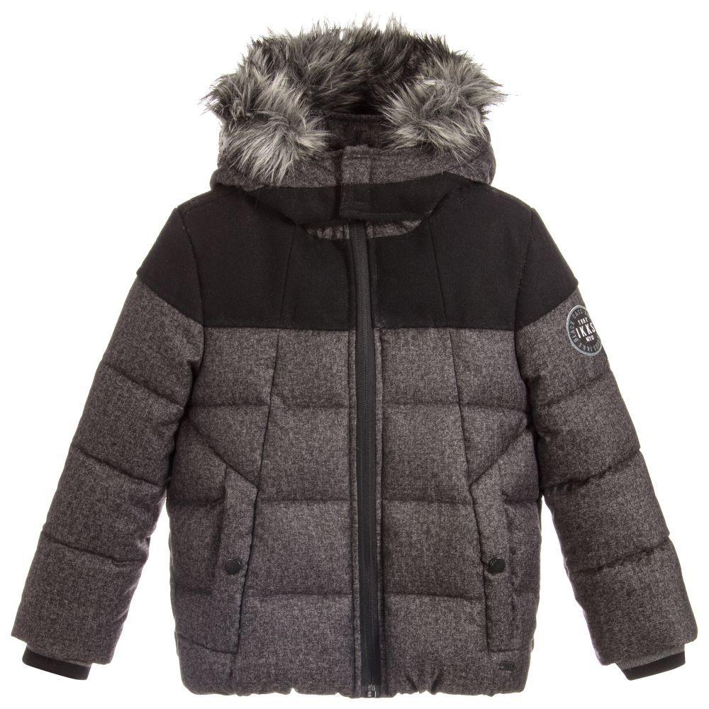 aade47093 Boys Grey Padded Jacket