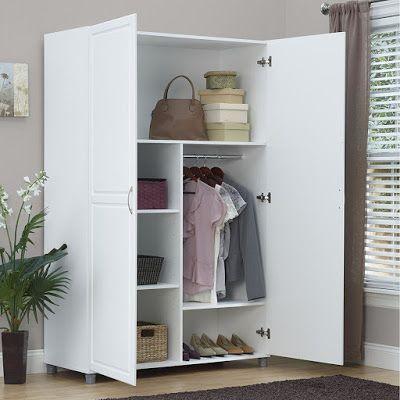 Armoire Wardrobe Closet Bedroom Clothes Organizer Storage Cabinet Wood Furniture