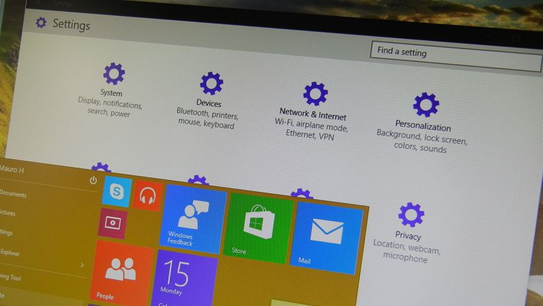Windows 10 build 9901 Handson with the Settings app
