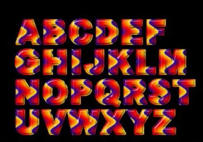 Trippy Orange Letters
