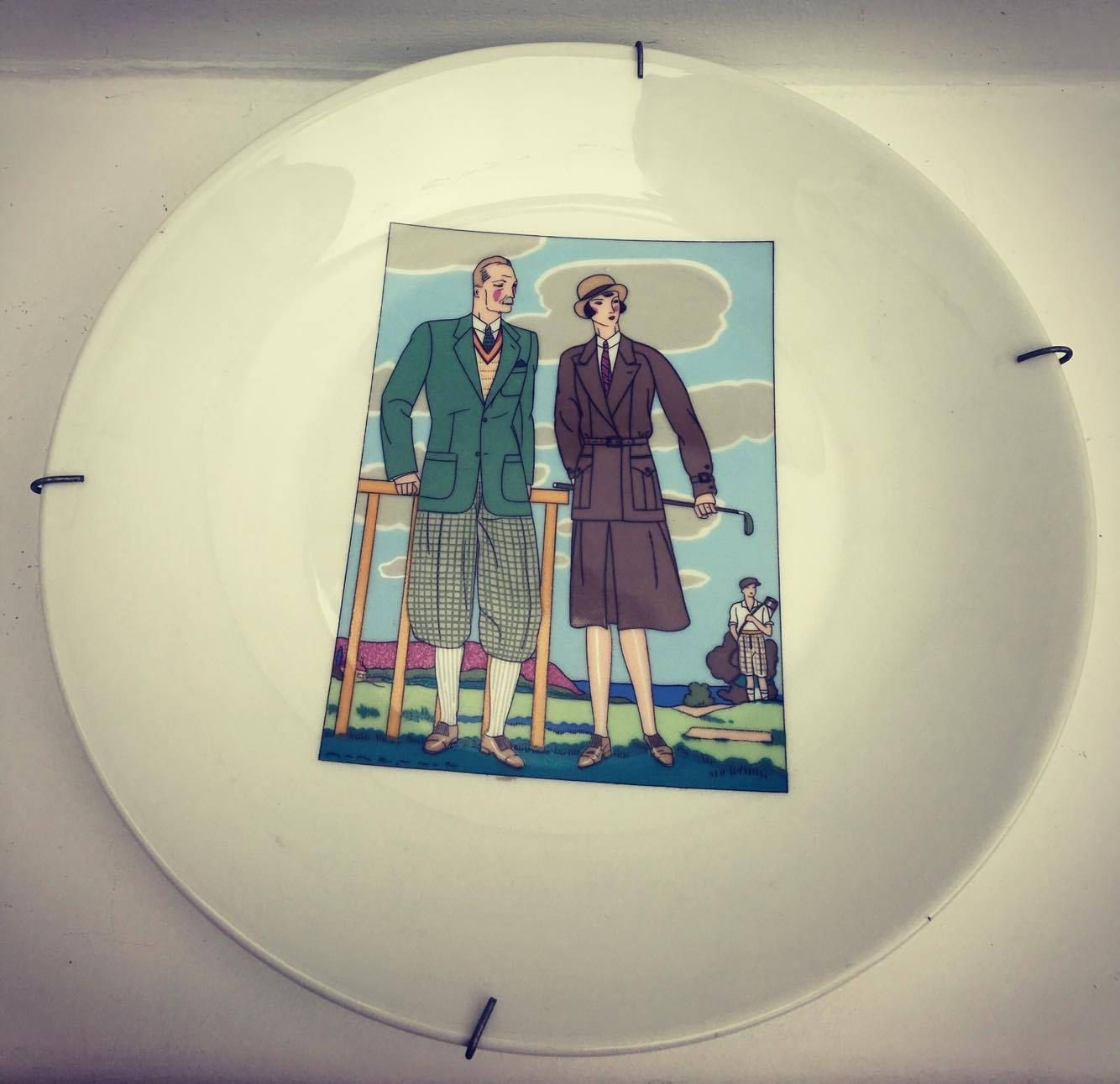 Decorative Plates Golf, set of 2 dishes for wall, Golf Plate ...