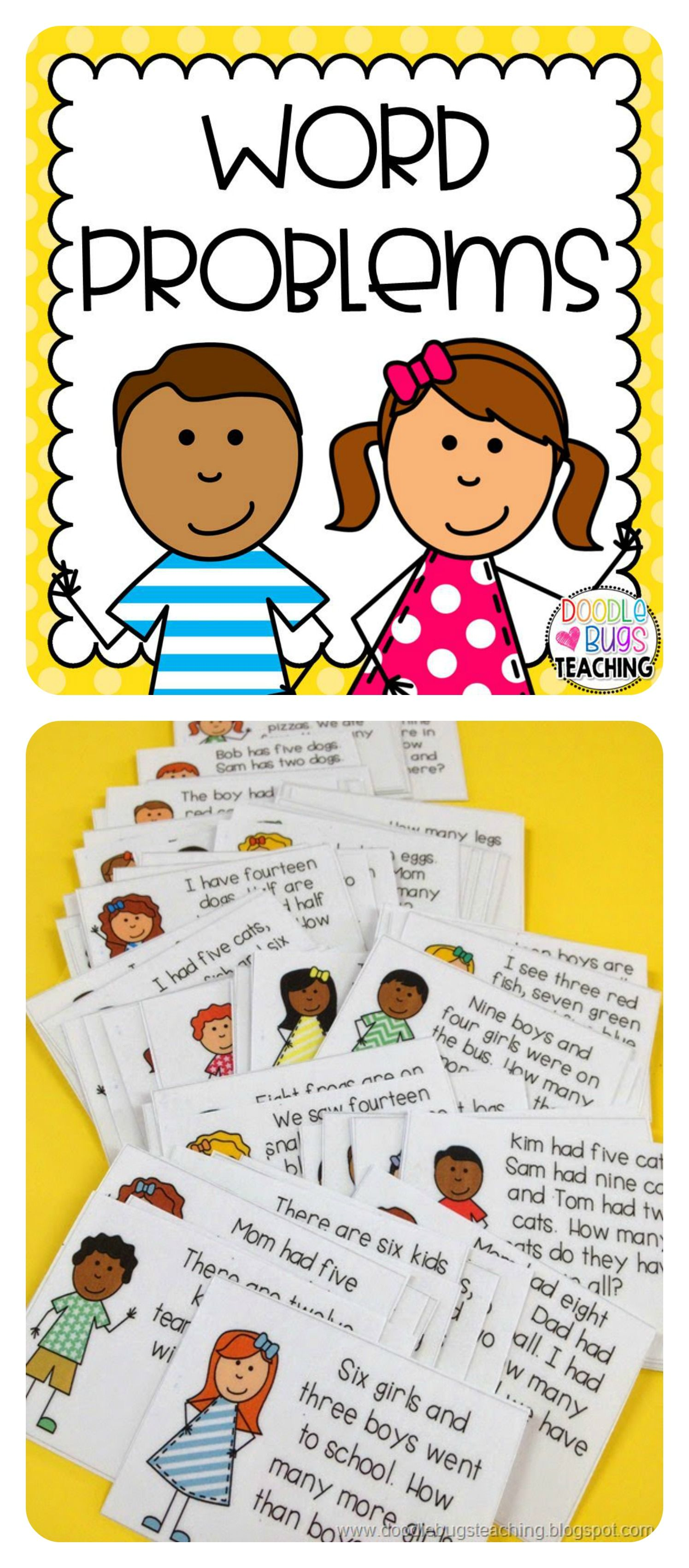 Daily Story Word Problems Kindergarten First Amp Second