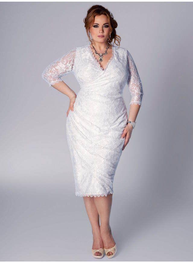158fb94291 vestidos de novia para gorditas cortos modernos
