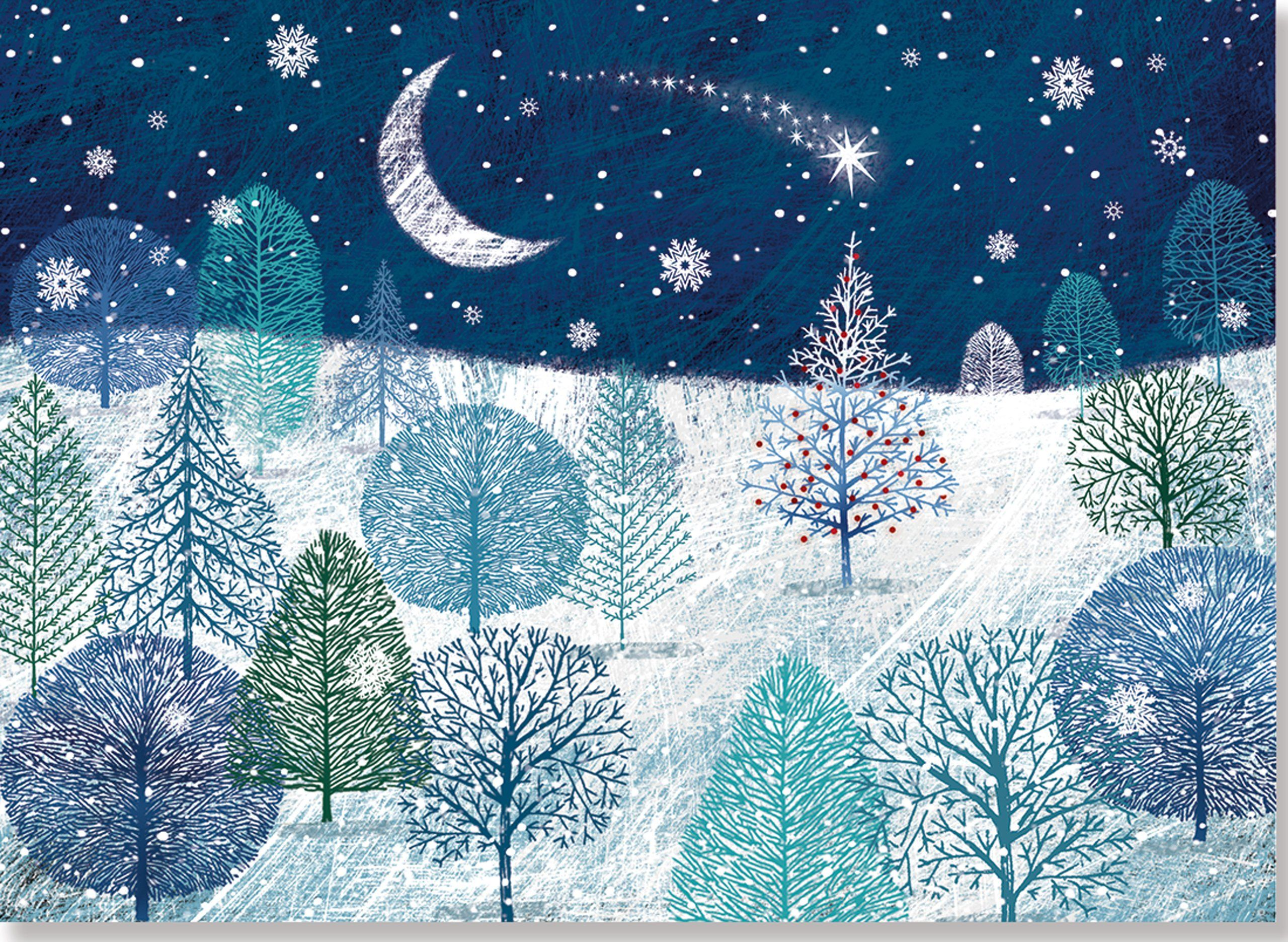 A Midnight Clear Deluxe Boxed Holiday Cards (Christmas Cards ...