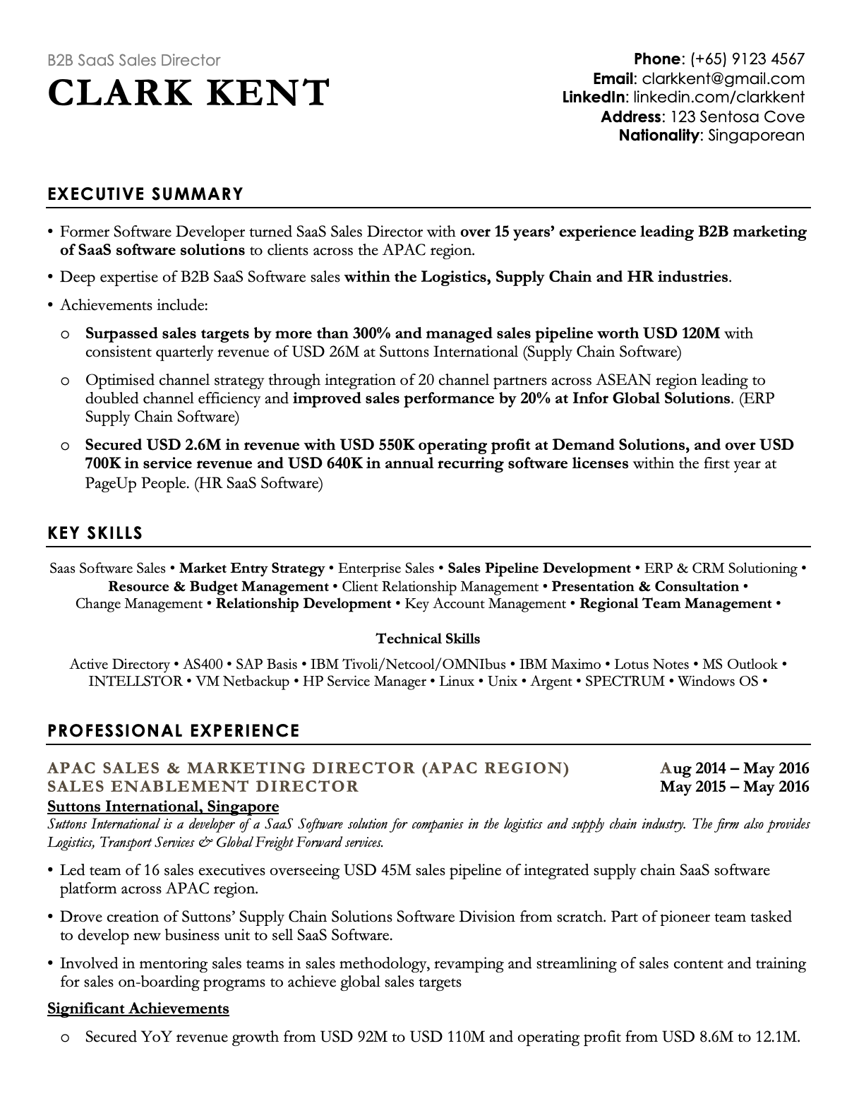 professional black resume template