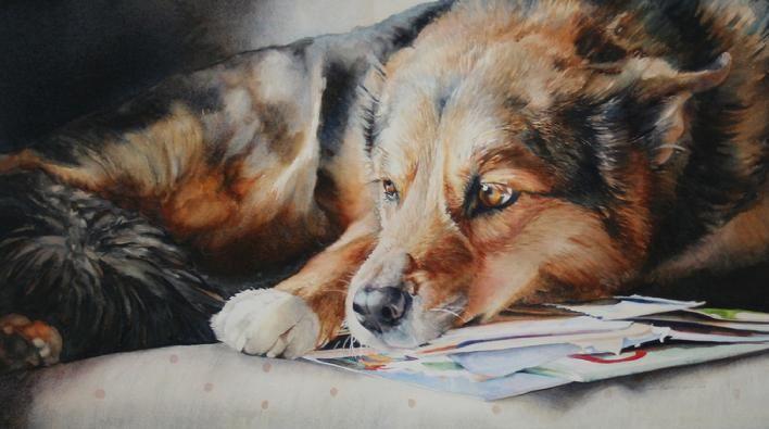 Latest Paintings By Ann Balch Cspwc Sca Sacha 28 50 X 16