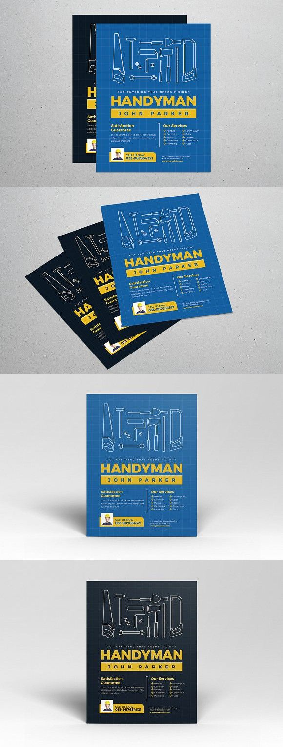 Handyman Flyer Flyer Template Template And Find Fonts