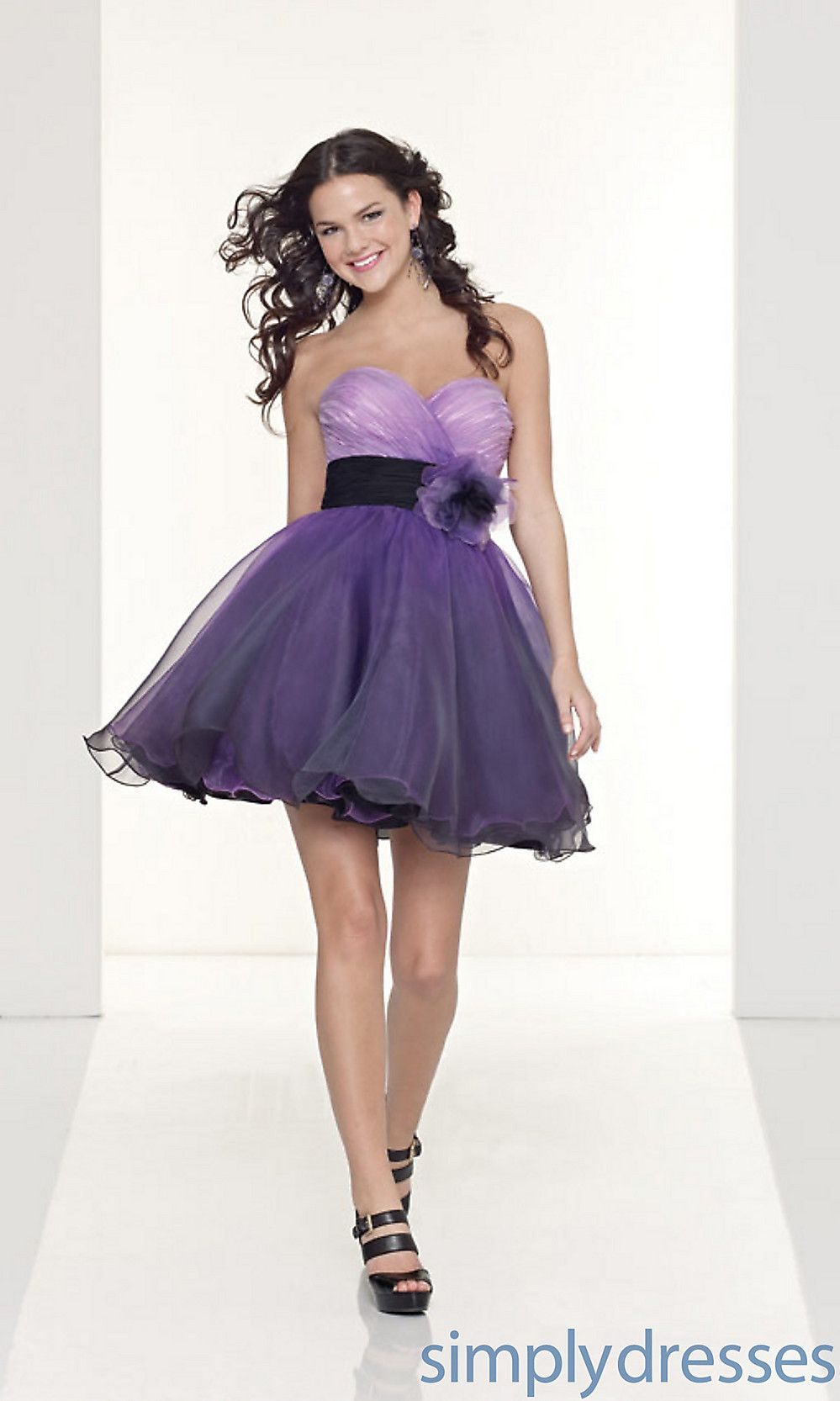 Short Purple Dresses, Strapless Mori Lee Dress- Simply Dresses | My ...