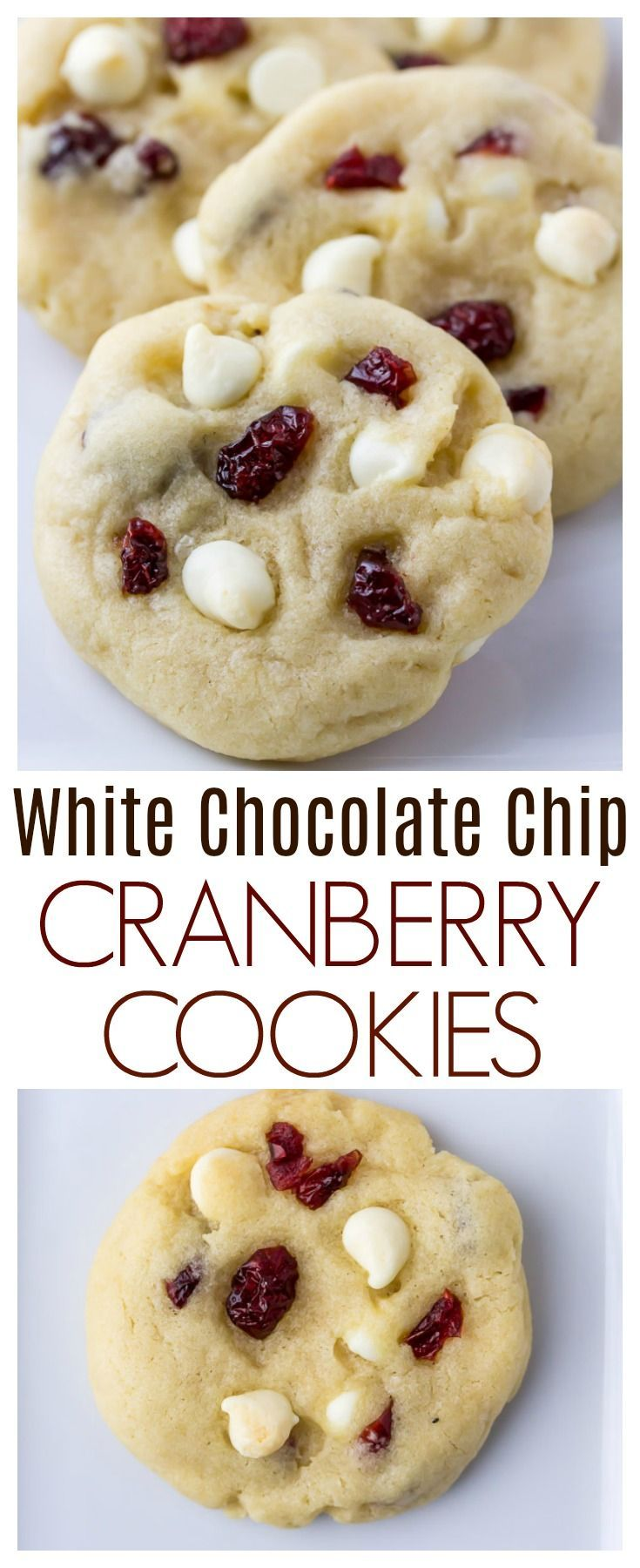 Soft and Chewy White Chocolate Chip Cranberry Cookies Recipe