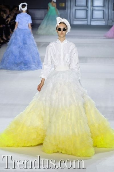 PFW Couture Giambattista Valli 2014 Kış