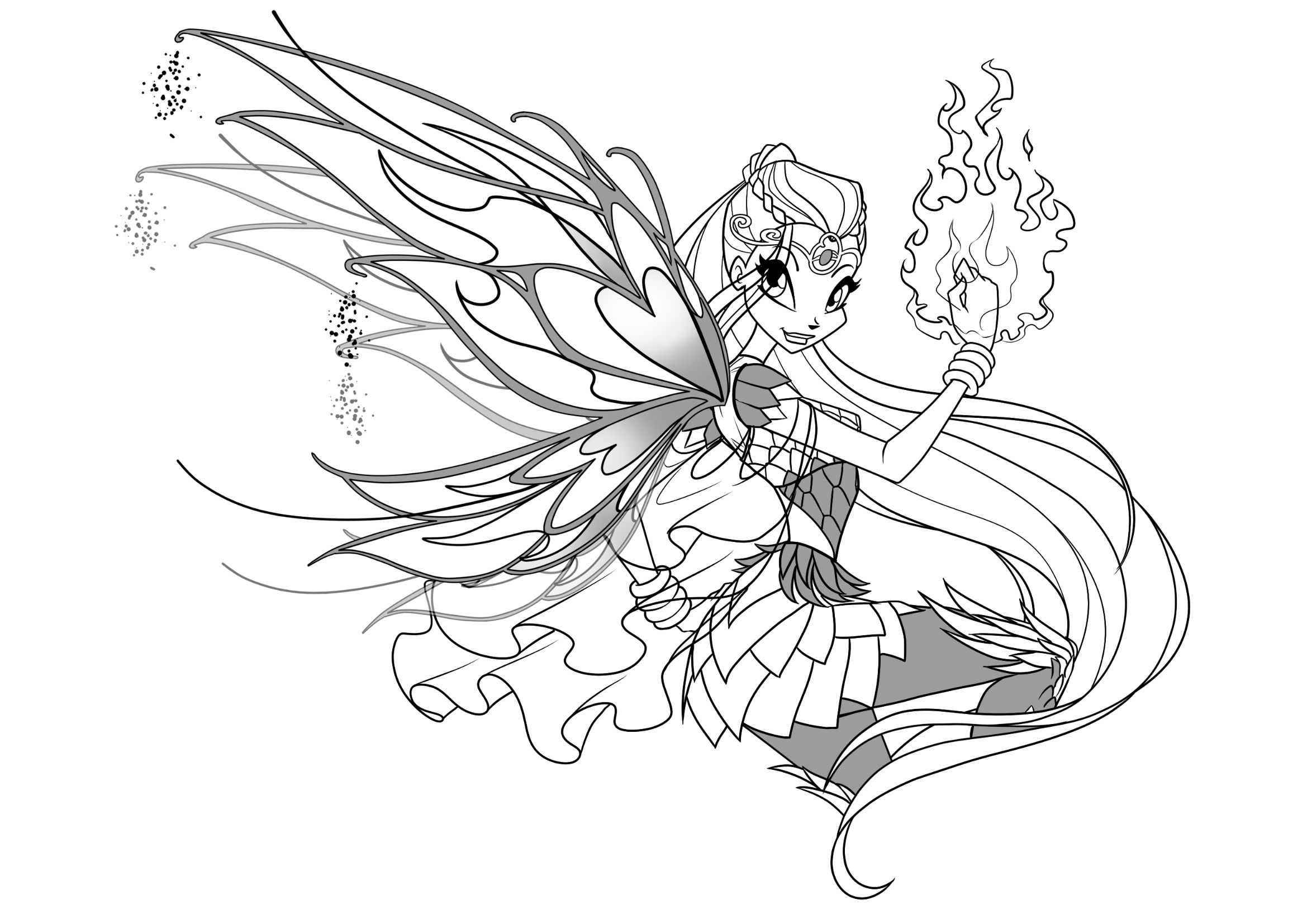 Winx Club Bloomix Coloring Pages Fairy Tattoo Cute Coloring Pages Coloring Pages